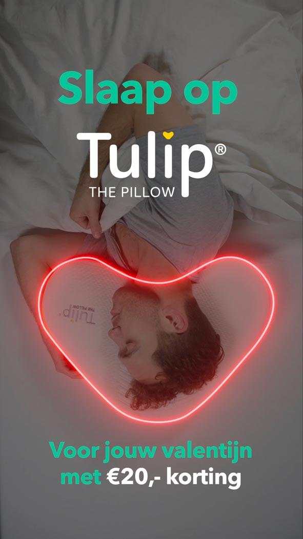 Tulip kussen United Comfort Industries Jeroen Nauta kussenontwerp proces ontwerpen kussens Valentijnsdag valentijnsactie valentijn korting videocampagne marketing
